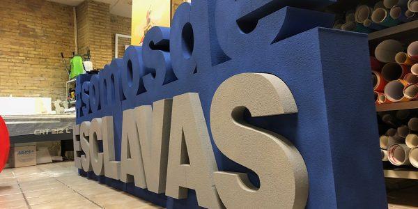 Letras corporeas en Valencia